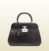 Gucci Lady Lock Lizard Top Handle Bag