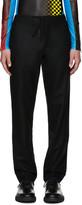 Maison Margiela Black Wool Drawstring Trousers