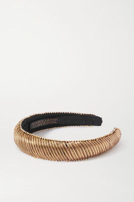 MaryJane Claverol Embellished Cotton-blend Headband - Gold