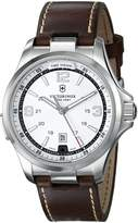 Victorinox Men's 241570 Night Vision Analog Display Swiss Quartz Brown Watch