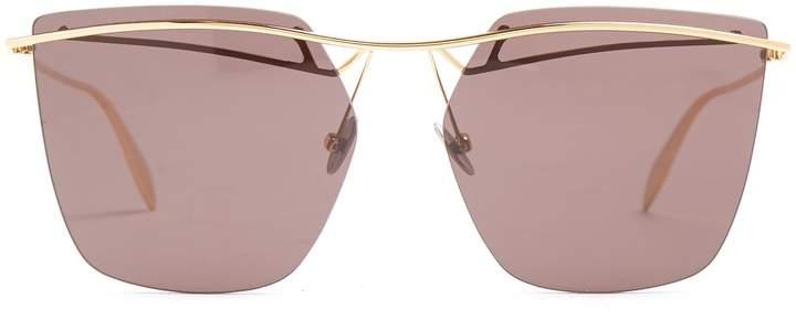 Alexander McQueen Rimless aviator sunglasses