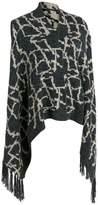 Wilsons Leather Womens Web Buster Soho Chick Pattern Fringe Vest