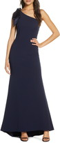 Eliza J Bow One Shoulder Gown