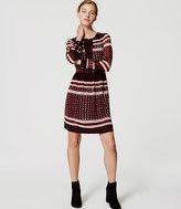 LOFT Square Stripe Shirtdress