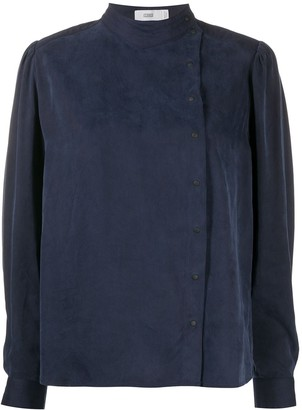 Closed Off-Centre Buttoned Blouse