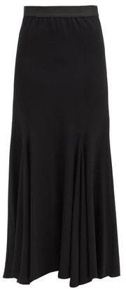 Ann Demeulemeester Asymmetrical Wool-blend Midi Skirt - Black