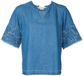 Muveil frayed edge top - women - Cotton - 38