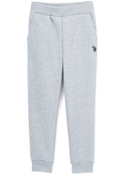 U.S. Polo Assn. Light Heather Gray Fleece Sweatpants - Girls
