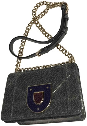 Christian Dior Diorama Grey Patent leather Handbags