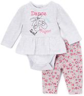 Vitamins Baby Gray & Pink 'Dance Twirl Repeat' Bodysuit & Pants - Infant