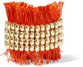 Rosantica Atena Fringed Gold-tone Bracelet - one size