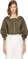 Stella McCartney Khaki Christy Parka Coat