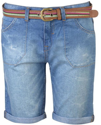 Soul Cal SoulCal Belted Boyfriend Shorts Ladies