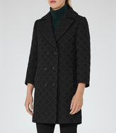 Reiss Ridley - Textured Coat in Black, Womens