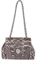 Oscar de la Renta Snakeskin Shoulder Bag