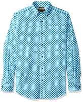 Ariat Men's Fitted Long Sleeve Performance Poplin Shirt