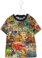 Junior Gaultier graffiti print T-shirt