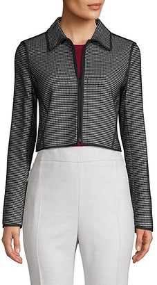 Lafayette 148 New York Printed Cotton-Blend Cropped Jacket