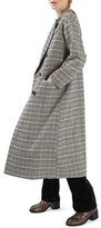 Topshop Women's Heritage Check Coat