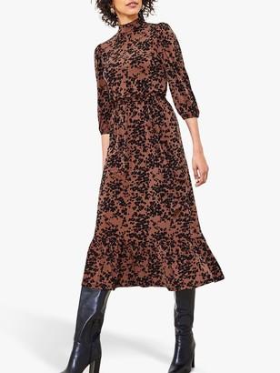 Oasis Amy Leopard Print Midi Dress, Multi