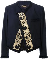 Dresscamp embroidered open front jacket
