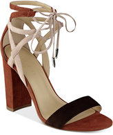 Marc Fisher Fatima Lace-Up Block-Heel Sandals