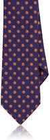 Barneys New York Men's Floral Wool-Silk Necktie-PURPLE
