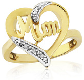 9ct Gold Plated Sterling Silver Mum Ring - L