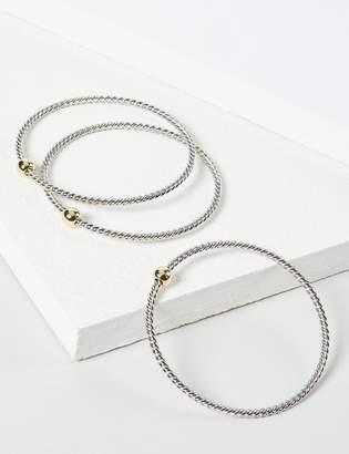 Lane Bryant 3-Row Rope-Textured Bracelet Set