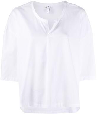 Comme des Garcons split-neck loose-fit blouse