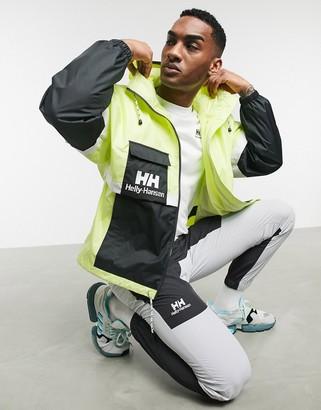 Helly Hansen rain jacket in lime