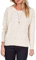 Volcom Women's Chained Down Knit Crewneck Sweater
