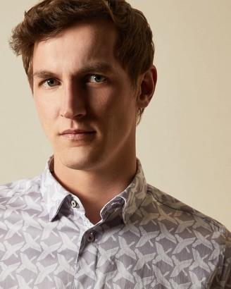 Ted Baker Cotton Bird Print Shirt