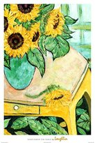 iSi Sunflowers on Table Poster by Loughlin 24 x 36in