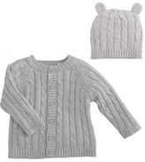 Elegant Baby Infant Cable Knit Sweater & Hat Set