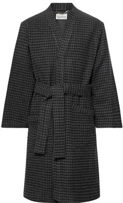 Wacko Maria Checked Wool-blend Coat - Gray