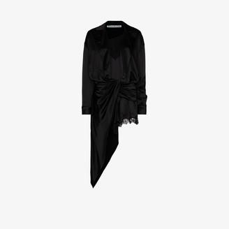 Alexander Wang Wrap Front Silk Mini Dress