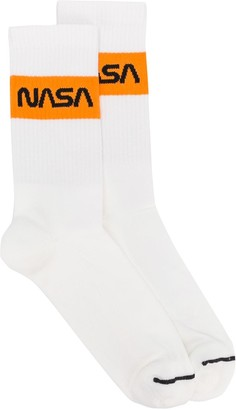 Heron Preston NASA stripe crew socks