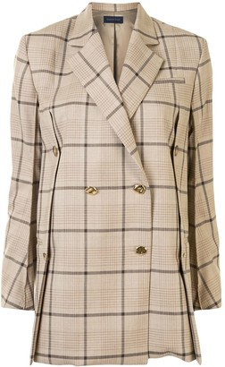 Eudon Choi Double Breasted Checked Blazer