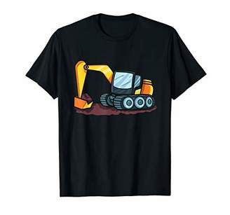 Equipment Excavator Heavy Digging Tractor Loader Print Kids T-Shirt