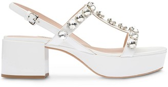 Miu Miu 50mm Crystal-Embellished Sandals