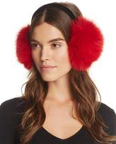 Surell Fox Fur Velvet Band Earmuffs - 100% Exclusive