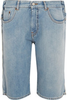 MM6 MAISON MARGIELA Distressed Denim Shorts - Light denim