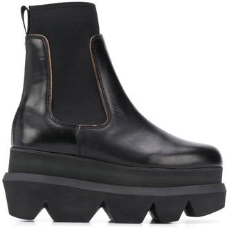 Sacai Ridged Sole Platform Boots