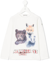 Moncler animals print long sleeve T-shirt