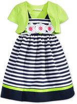 Bonnie Jean 2-Pc. Stripe Dress & Shrug Set, Toddler & Little Girls (2T-6X)