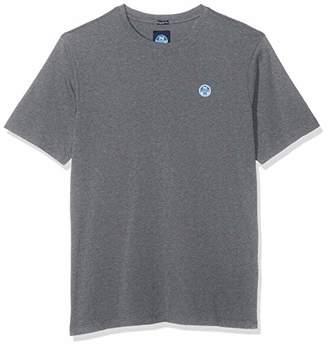 North Sails Men's T-Shirt S/s W/Logo Kniited Tank Top, Medium Grey Melange 928.0