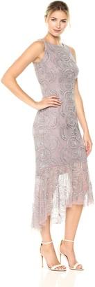 Aidan Mattox Aidan Women's Hi Lo Beaded Dress
