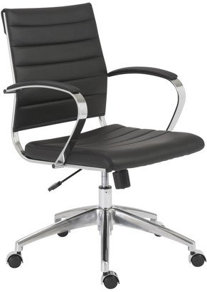 Euro Style Axel Black/ Aluminum Low Back Office Chair