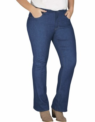 Dickies Women's Perfect Shape Denim Jean-Bootcut Stretch Plus Size